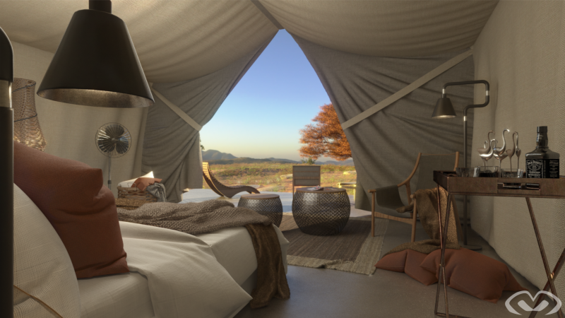 • Concept Design – Luxury Tent – Design & Render 2020 •
