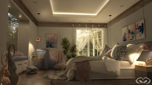 • Concept Design – Bedroom – Design & Render 2019 •